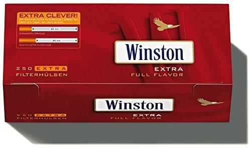 1000 (4x250) Winston EXTRA (Tubos, Tubos de filtros, Tubos de cigarril