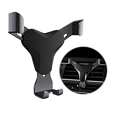 HaloCam Car Phone Mount Universial Gravity Air Vent Phone Holder with 360 Degree Rotation for up to 6-inch Smartphones & GPS Apple iPhone 7/6s/6 Plus 5s/SE/5 Samsung S8 S8+ S7 Edge Google (12 V Prius Outlet)