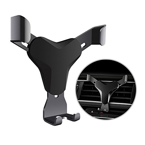 HaloCam Car Phone Mount Universial Gravity Air Vent Phone Holder with 360 Degree Rotation for up to 6-inch Smartphones & GPS Apple iPhone 7/6s/6 Plus 5s/SE/5 Samsung S8 S8+ S7 Edge Google Pixel