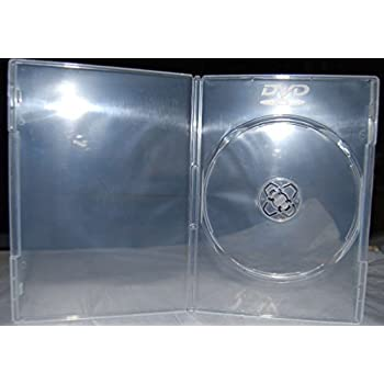 100 x Slim Ultra Clear Single DVD Empty Replacement Boxes with Clear Wrap Around Sleeve #DVBR07CL (7mm)