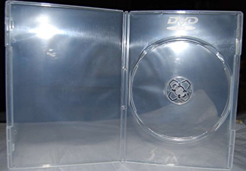 100 x Slim Ultra Clear Single DVD Empty Replacement Boxes with Clear Wrap Around Sleeve #DVBR07CL (7mm) - Slimline Single Dvd Case