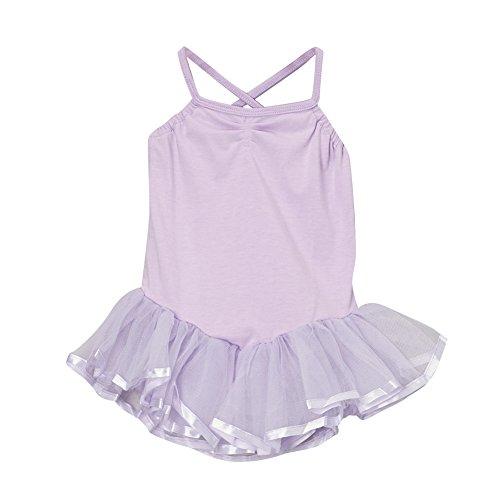 Storybook Wishes Girls Lavender Ballerina Tutu Leotard, Size Large (6/8)