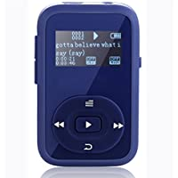 FecPecu 8GB MP3 Player, Clip Updated Bluetooth Music Player, Hi-Fi Sound Portable Audio Player with FM Radio, Recording Function Expandable Up to 64GB (F260 Blue) ¡­