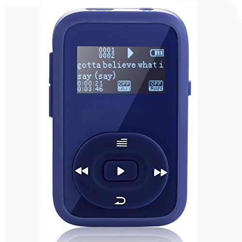 FecPecu 8GB MP3 Player, Clip Updated Bluetooth Music Player,