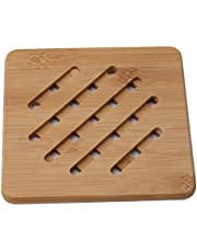 NIKOLay Non-Slip Bowl Cup Pad Household Bamboo Placemat Kitchen Cooking Accessories,S,Round