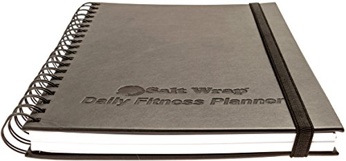 "SaltWrap Daily Fitness Planner - Gym Workout Log & Food Journal with Daily & Weekly Pages + Goal Tracking Templates – Spiral-Bound, Size 7"" x 10"" 