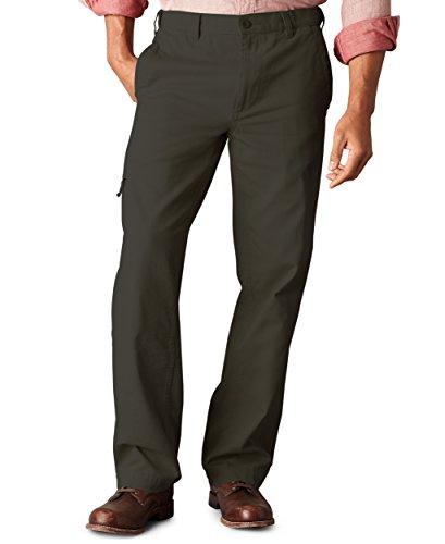Dockers Men's Alpha Khaki Pant, Rifle Green, 36W x (Mens Cargo Pocket Pants)