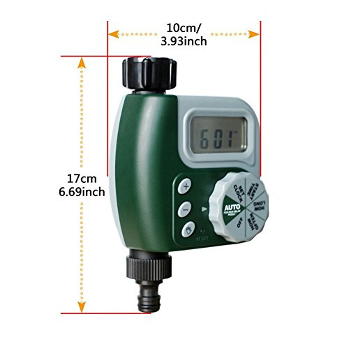 Alotm 1 Outlet Programmable Hose Faucet Timer, Automatic ON/OFF Digital Irrigation Controller Watering Timer, Easy Hose Connection, Battery Powered Watering System for Outdoor Garden by Alotm (Image #4)