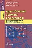 Agent-Oriented Software Engineering II: Second