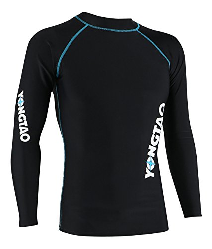 YONGTAO Men Neoprene Quick Dry Swimming Skin Long Sleeve Diving Rash Guard Sun Protective for Canoeing Kitesufing - S by YONGTAO