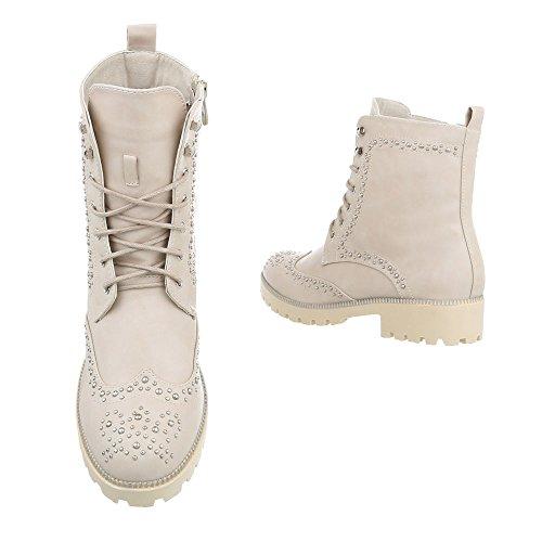 Ital-Design Women's Desert Boots Beige hECAMStrLQ