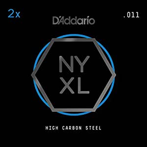 Amazon.com: D'Addario NYXL Plain Steel Guitar Strings ...