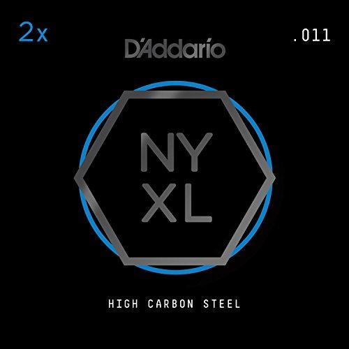 D'Addario NYXL Plain Steel Guitar Strings.011, 2 singles per pack