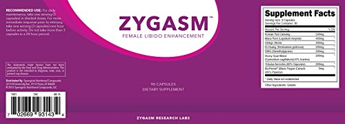 Zygasm - Best Female Libido Booster - All-Natural Enhancement Supplement For Women (90 Caps)