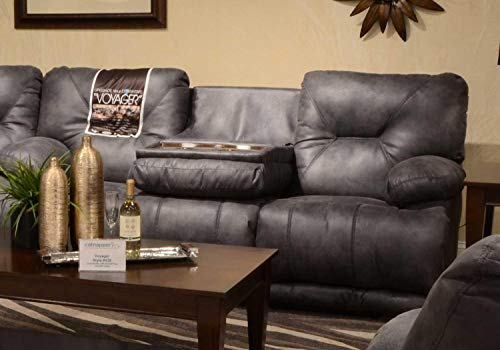 Catnapper 643845122853302853 Power Lay Flat Reclining Sofa, in Slate Color