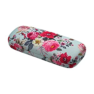 Rachel Rowberry Floral Eyeglass Case with eyeglass cleaning cloth   Medium hard eyeglass case in a unique Microfiber Smooth Finish (AS126 Rose Bouquet )