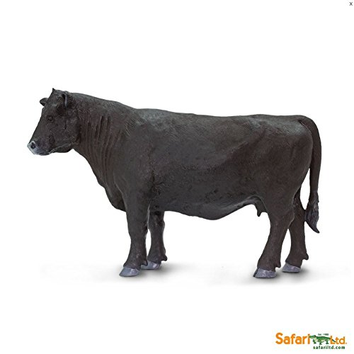 Safari Ltd. Safari Farm Animals Black Angus Cow Figurine