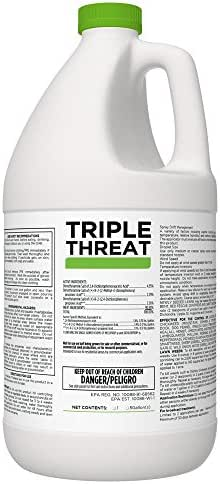 Triple Threat Selective Weed Killer Herbicide for Lawns and Turf - 1 Gallon Jug (Makes 64 Gallons)