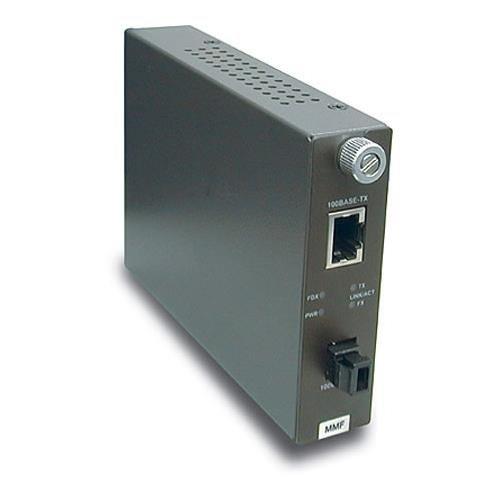 TRENDnet 100Base-TX to 100Base-FX Multi Mode MT-RJ Fiber Converter (2 Km /1.2 Miles), TFC-110MM by TRENDnet