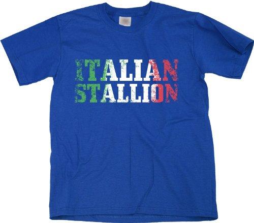 ITALIAN STALLION Youth Unisex T-shirt / Italian, Italy, Azzurri Pride Tee