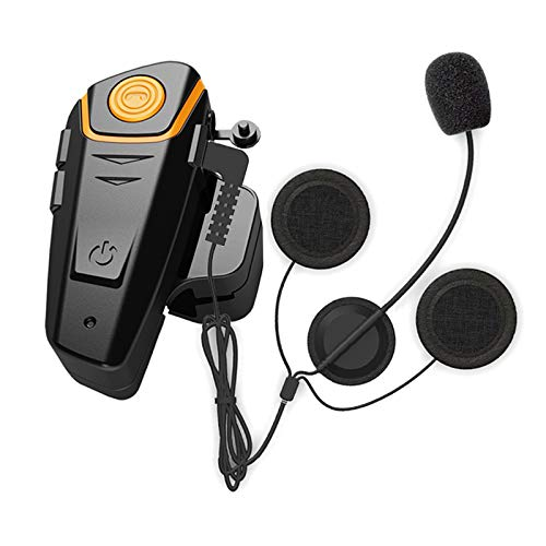 Yideng Bluetooth Helmet Communication Motorcycle Headset Intercom BT-S2 Headphone Wireless Interphone for Motorbike Skiing 2-3 Riders Pairing Single
