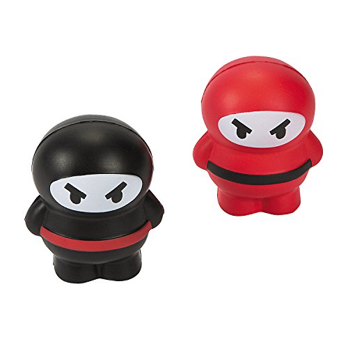 Ninja Relaxable Stress Balls Party Favors - 12 PC