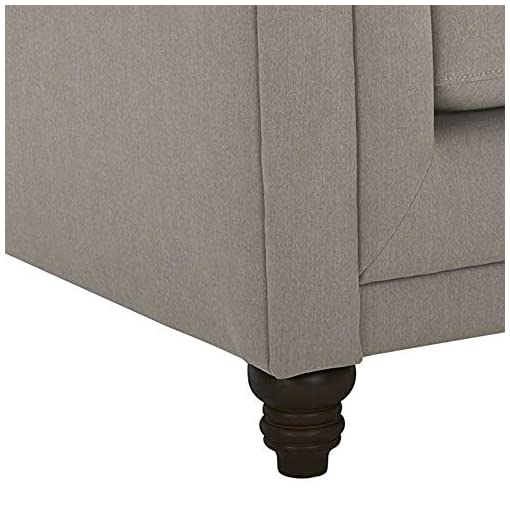 Farmhouse Living Room Furniture Amazon Brand – Stone & Beam Bradbury Chesterfield Tufted Loveseat Sofa Couch, 78.7″W, Slate farmhouse sofas and couches