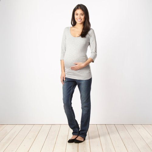 Red Herring Maternity Damen Umstandsmode/Grau, 3/4-Sleeve Top