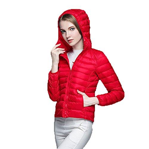 Breve Donna Ruiren Antivento Bigred Slim Tenere Fashion Down Cappuccio E Con Da Felpa Caldo In Paragrafo rfvwr