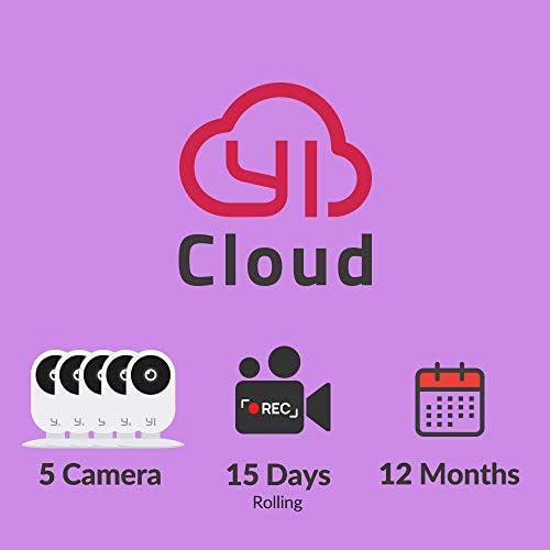 YI/Kami Sensible cameras Cloud Service Plan, 12 months   STANDARD plan: 5 cameras – 15 days rolling [PC/Mac Online Code]