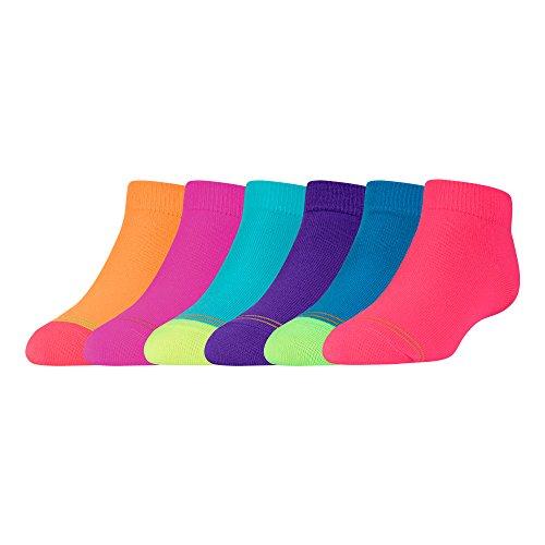 Gold Toe Girls Flat Knit Quarter Sock, 6 Pairs