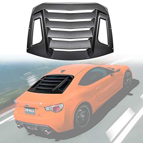 Opall For 2012-2018 Subaru BRZ/Scion FR-S/Toyota GT86 Rear Window louvers Windshield ABS Window Scoop Cover Rain Sun Guard Wind Deflector Matte ()