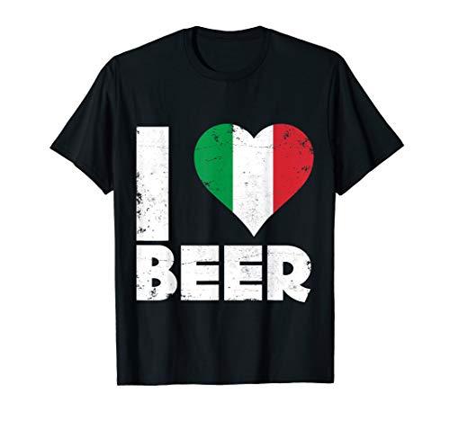 I Heart Italian Beer Pride Love Italy Flag Italia T-Shirt