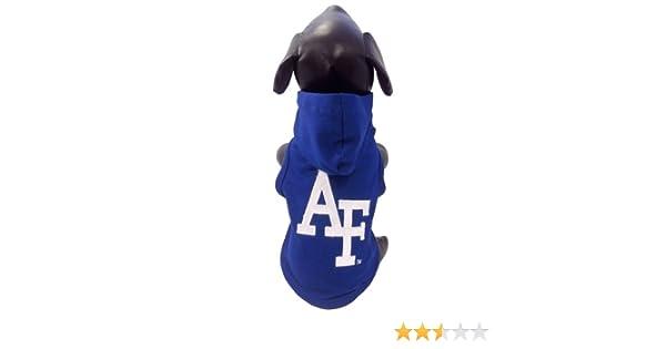 X-Small NCAA Air Force Falcons Cotton Lycra Hooded Dog Shirt