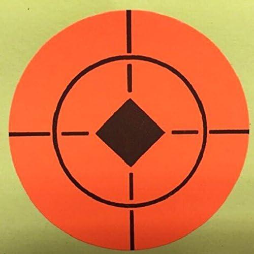 Pegatinas autoadhesivas de agujero de diana para disparar de Target House, color naranja neón de 3,81 cm, con 300 objetivos