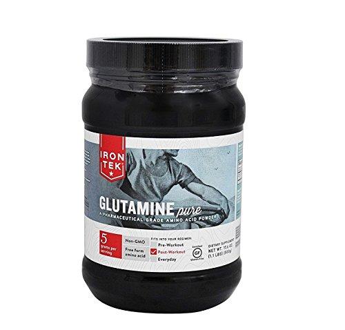 Iron Tek Essential Glutamine Powder, 1.1-Pound