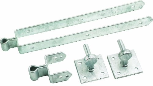 Eliza Tinsley 12-inch Galvanised Double Strap Plate Field Gate Hinge Set by Eliza Tinsley