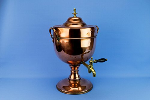 Large Copper Kettle Hot Water Urn Samovar Antique Victorian English Mid 19th Century
