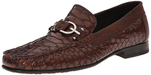 Donald J Pliner Men's Darwin Slip-On Loafer, Tan Python Print, 10 M US