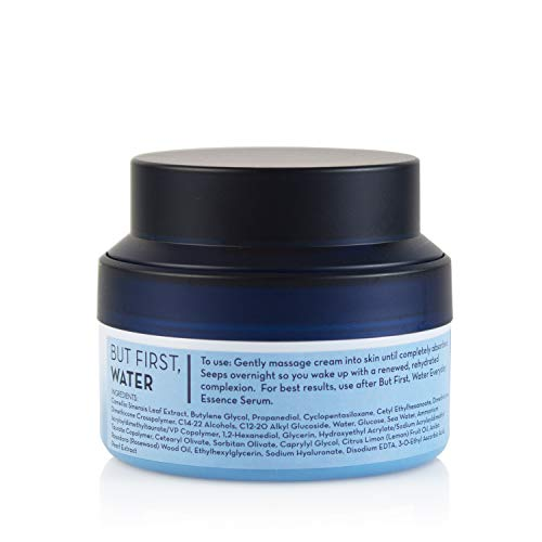 The Crème Shop Korean Skin Care   But First, Water Face Moisturizer Hyaluronic Acid Water Cream for All Skin - Vitamin C, Nature, Hydrate, Smooth, Anti Aging, Acne Treatment Face Moisturizer for all skin types