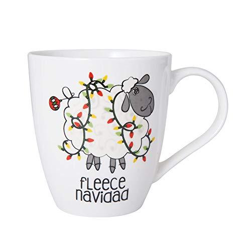 (Pfaltzgraff 5211787 Fleece Navidad Christmas Drink Mug 18 ounces White)