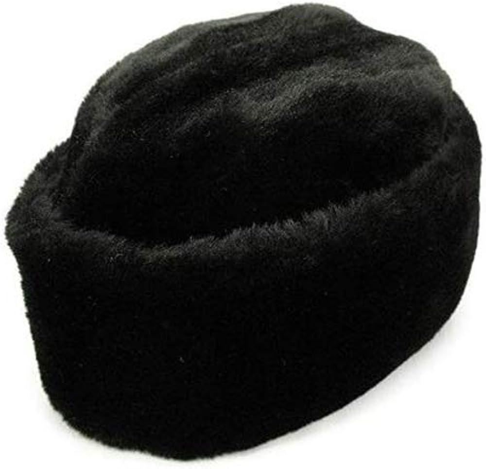 Brand New Karakul Persian Lamb Kufi Fur Sheep Broad Tail Russian Jinnah Hat Cap