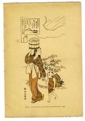 Colour Plate Suzuki Haranobu 1895 Japanese Wood Engravings Their History from Generic