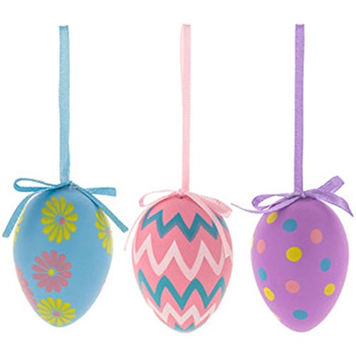 Pastel Patterned Egg Ornaments ~ Decorative Easter Eggs ~ 12 count by LoveHome