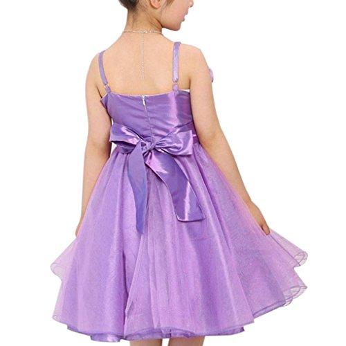 Kids Girls Special Occasion Party Flower Shoulder-strap Princess Dress Net Yarn Pleated Dress Sizes 6-12