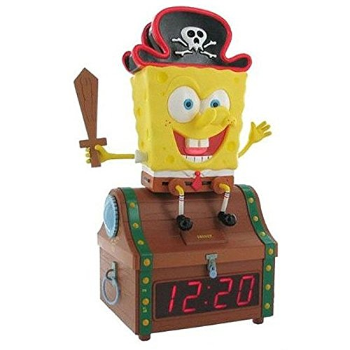 Emerson Spongebob Treasure Chest Clock Radio