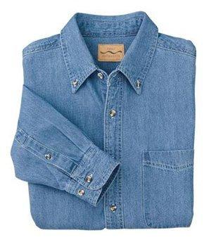 (Port Authority - Long Sleeve Denim Shirt - Faded Denim S600 XS)