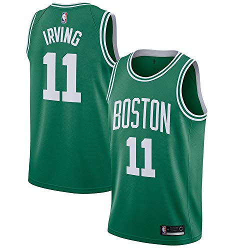 (Majestic Athletic Kyrie Irving #11 Men's Boston Celtics Green Swingman Jersey)