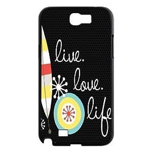 Live the Life You Love Cover Case for Samsung Galaxy Note2 N7100,diy Live the Life You Love cover case WANGJING JINDA