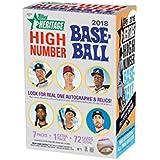 Topps 2018 Heritage High Number Baseball Blaster Box (8 Packs/9 Cards)